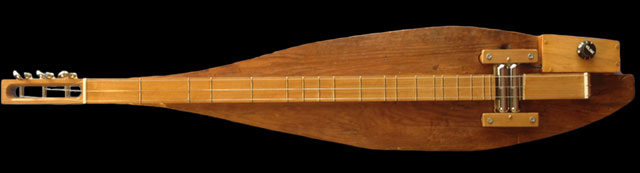 an electric dulcimer made of cypress, my own build